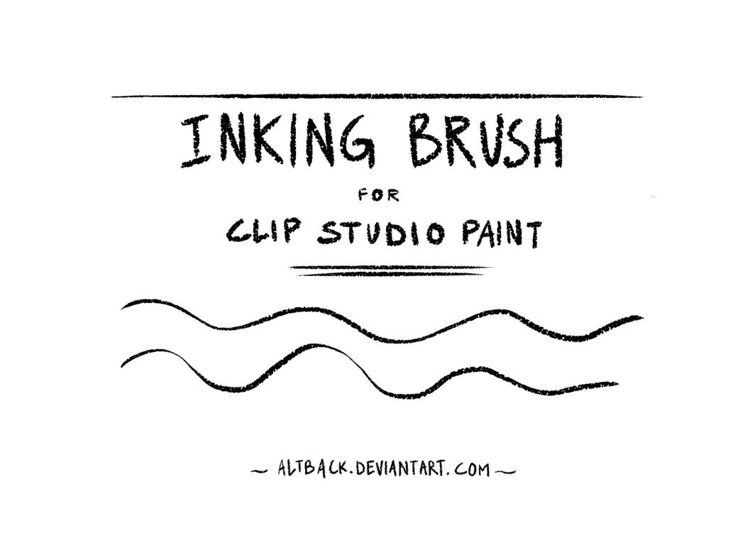 Inking Brush (textured) for Clip Studio Paint by altback