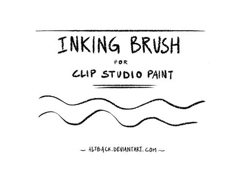 Inking Brush (textured) for Clip Studio Paint