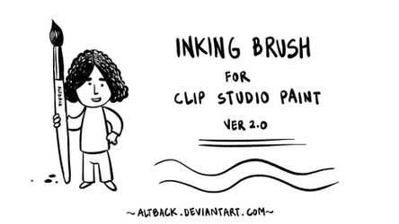 Inking Brush for Clip Studio Paint - ver2.0