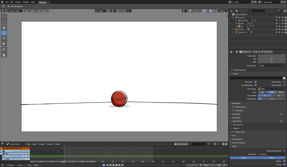 JumpingBall/BouncingBall (grease-pencil--armature) by altback