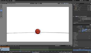 Jumping Ball in blender