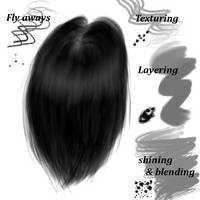 NovaLupe's Hair Brushes - for gimp by NovaLupe