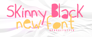 skinny black font by sparklystyle
