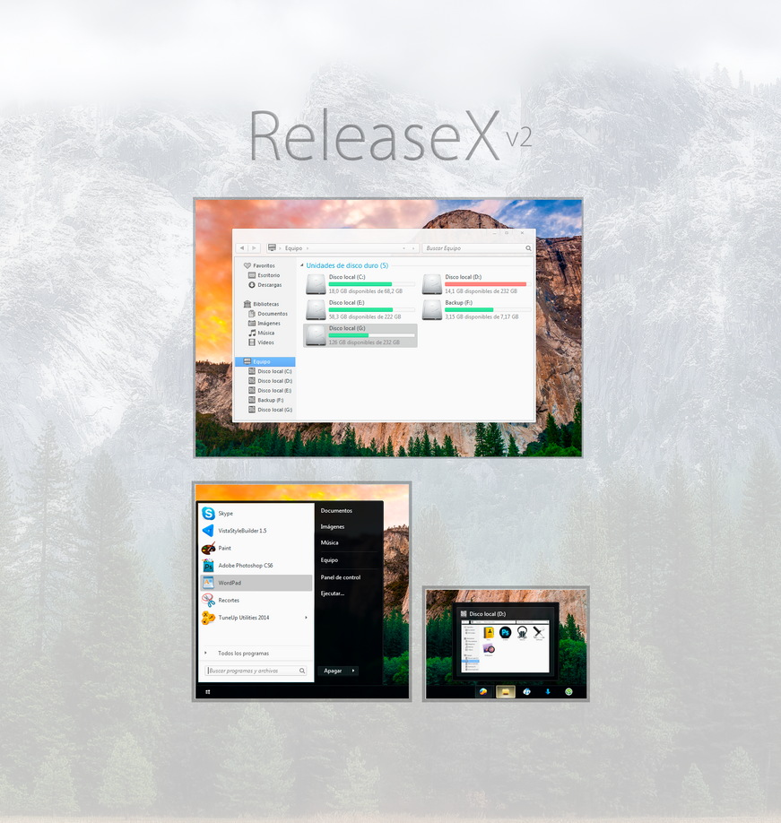 ReleaseX theme for Win7