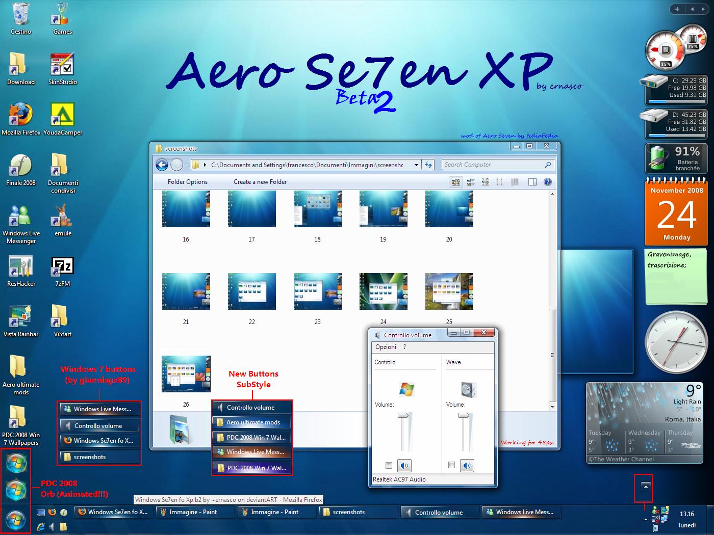 Windows Se7en fo Xp b2