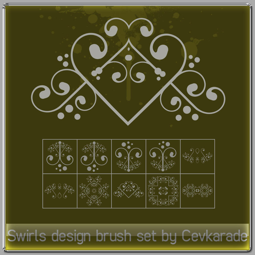 Cevkarade - Swirls brush Set 1 by Cevkarade