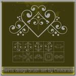 Cevkarade - Swirls brush Set 1