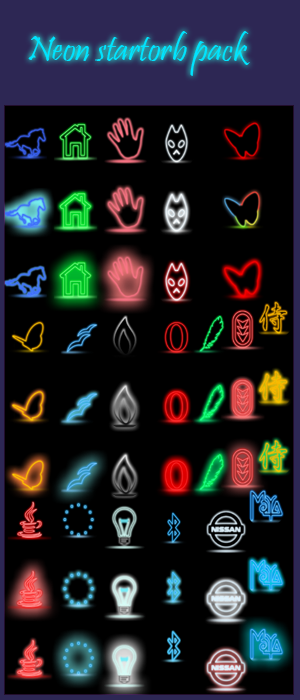 Neon Start orb pack by charush