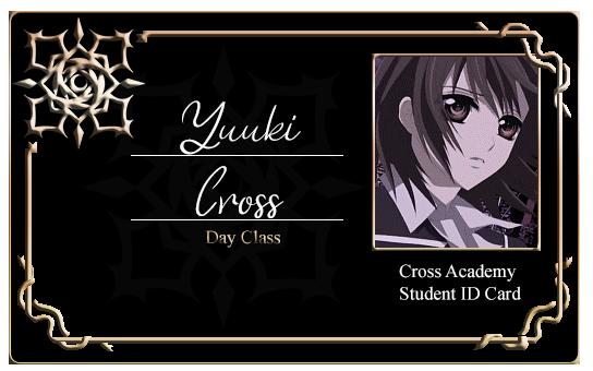 Cross Academy Student ID Card - Yuuki Cross