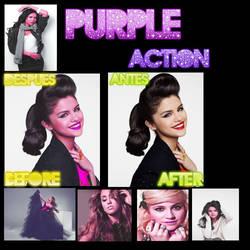 Purple Action by dianarojas