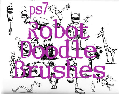 Robot Doodle Brushes by sevynstarr