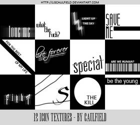 Icon Text Textures 1 by LisCaulfield