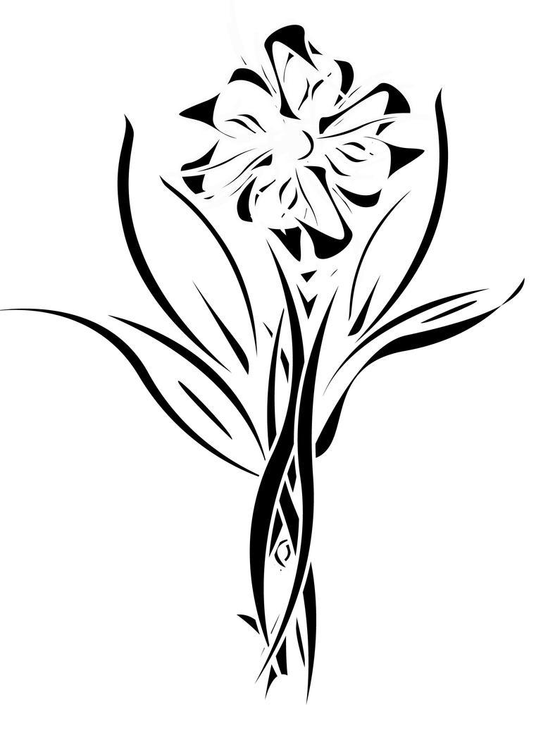 Tribal Art Flowers