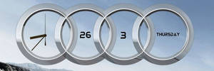 Audi date and time XWidget By Kartik