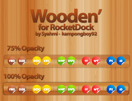 Wooden' Dock Skin