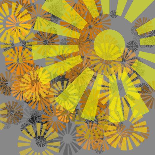 Brushes - Simple retro sun by harryak