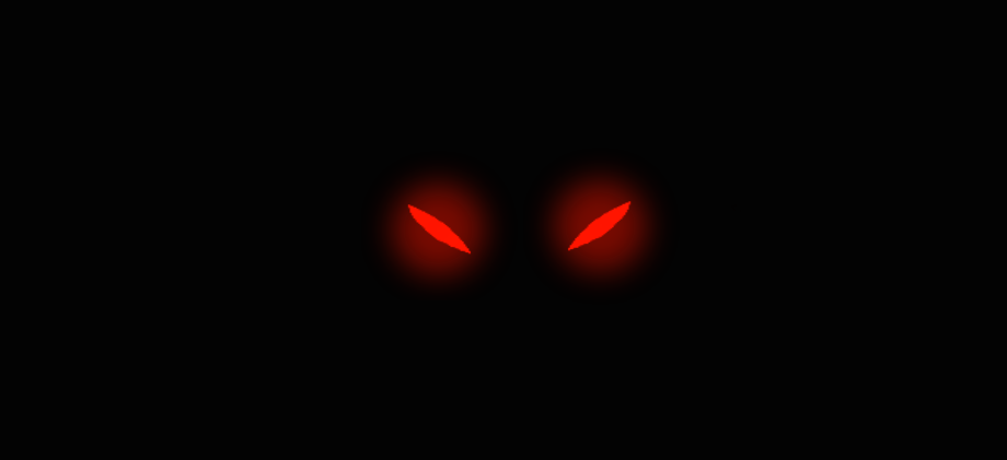 Demonic Red Cat Eyes