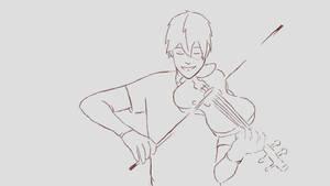 Violinist Todoroki (animation)