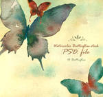 Watercolor butterflies stock