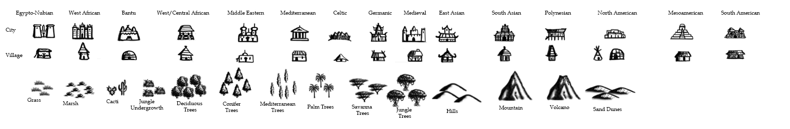 Brandon S. Pilcher's Diverse Map Icons by DaBrandonSphere