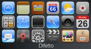 Difetto- iPhone Theme