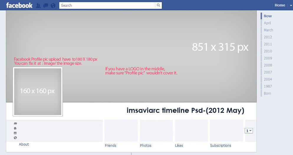 Facebook Timeline psd by annablemay on DeviantArt