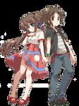 Pokemon Render Mei and Kyouhei