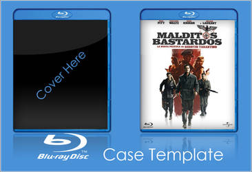 Bluray Case Template PSD by Saikuro