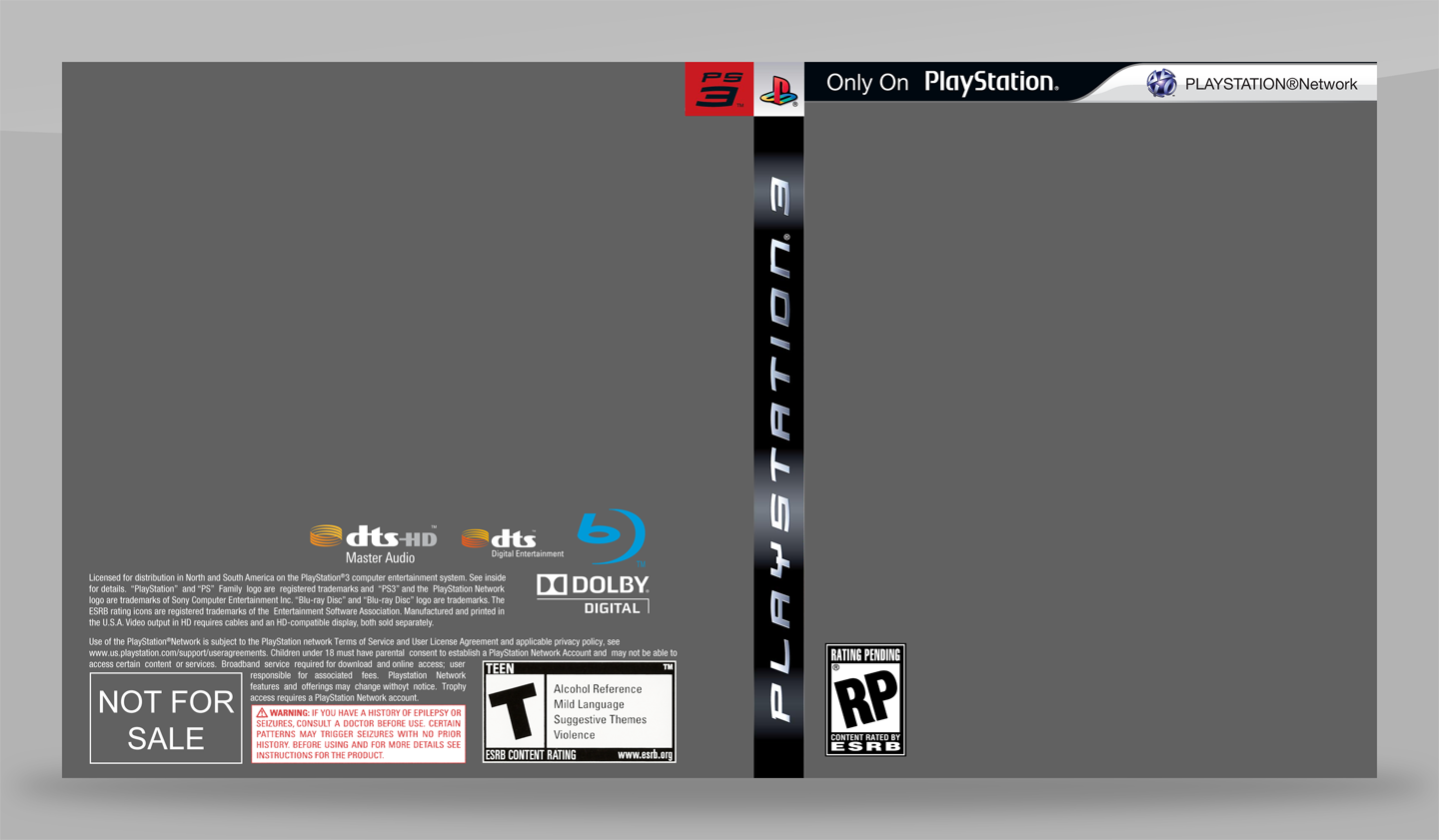 PS3 Game Cover Template OLD by Saikuro on DeviantArt