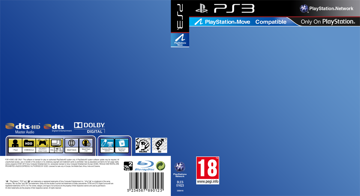 PlayStation 3 Game Cover Template by Saikuro on DeviantArt