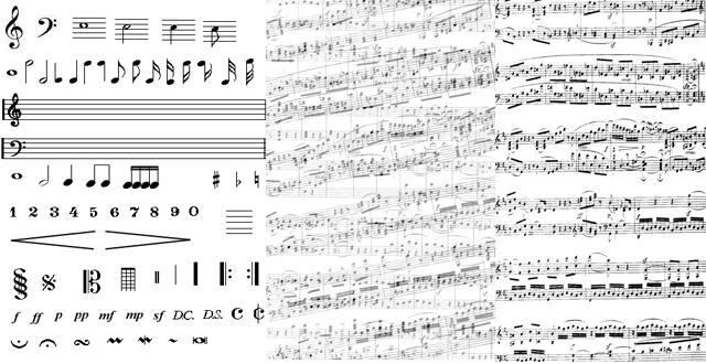 music-brush-set-PNG by djrana-stock