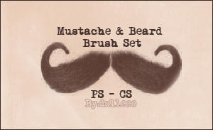 Mustache and Beard BrushSet by dolleee