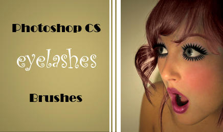 Eye-Lashes PS-CS Brush Set by dolleee