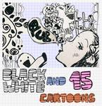 black and white cartoons