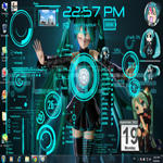 My Miku theme Zipped file by the-crimsonlotus
