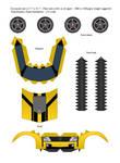 TFP Bumblebee (Yellow) Papercraft - Template