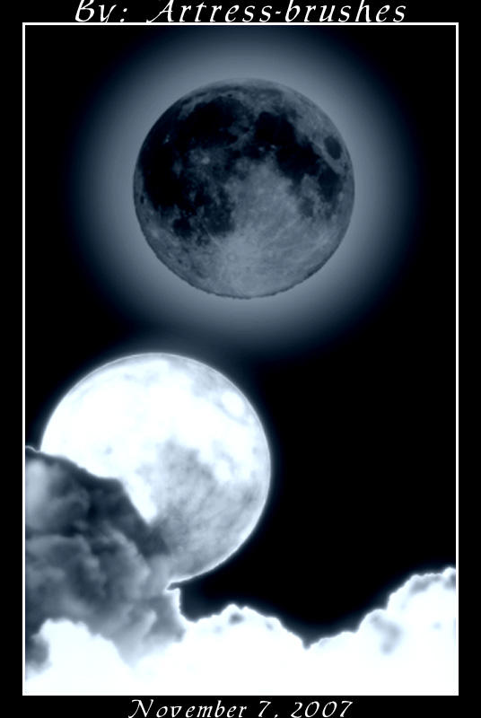 Moon Brushes by ArtressCreativeTools