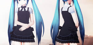 MMD Blue Dress