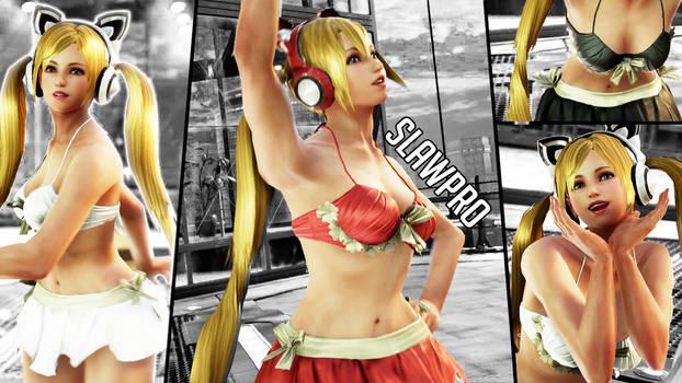 [TK7] Lucky Chloe's Lili Ruffle Bikini Cosplay by SlawPro