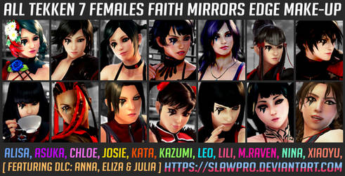 [TK7] ALL Faith Makeup (Mirrors Edge) S2 Updated! by SlawPro