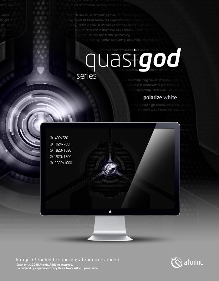 Quasi-God Polarize White by submicron