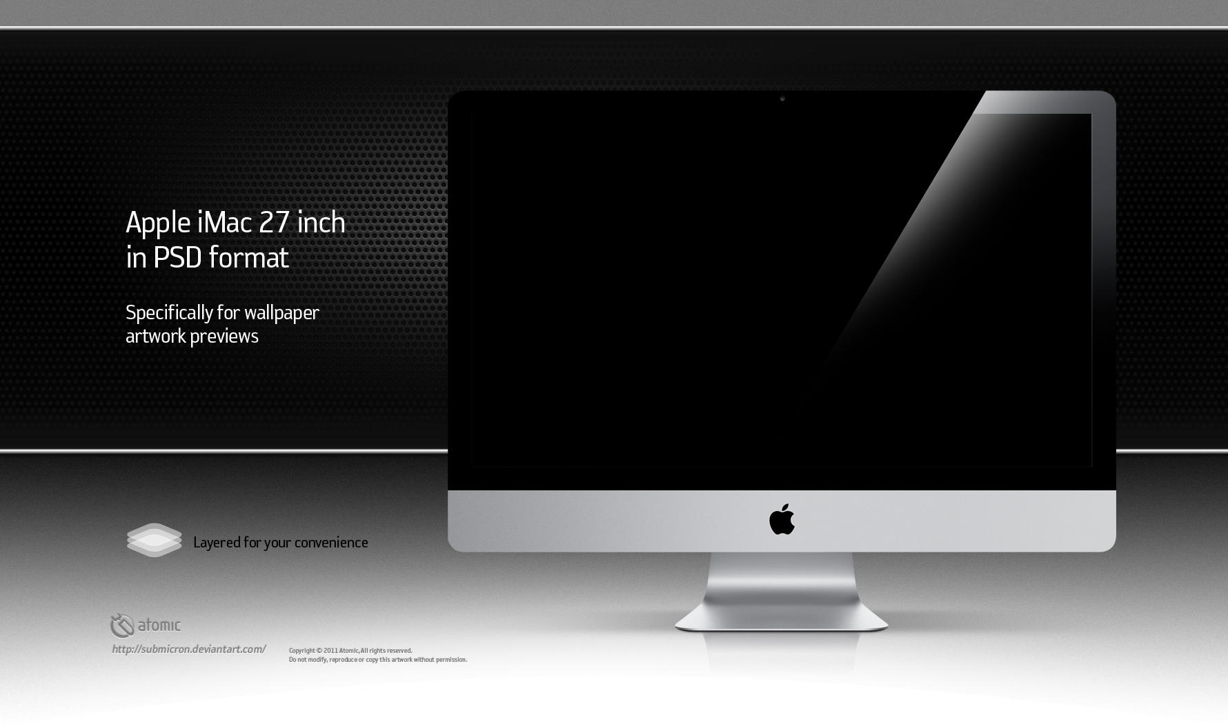 Apple iMac 27 inch PSD by submicron