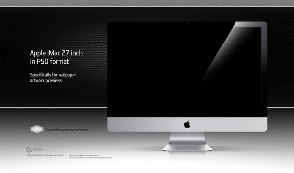 Apple iMac 27 inch PSD