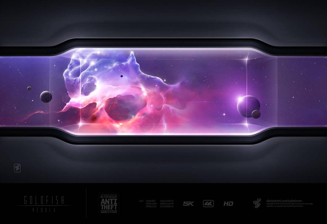 Goldfish Nebula Electric Purple by submicron