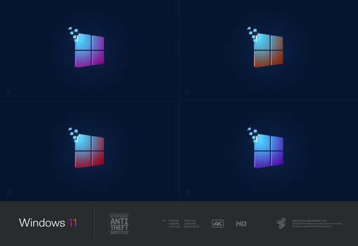 Windows 11 Dark Multi Color