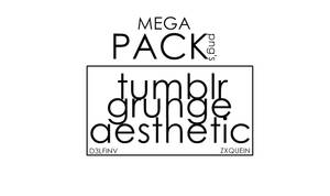 MEGA PACK PNG TUMBLR AESTHETIC GRUNGE