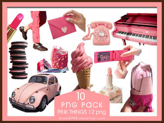 PNG PACK10 Pink Things 10 png by xichan0794 by xichan0794