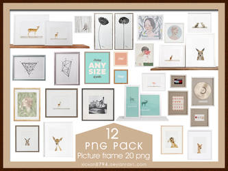 PNG PACK12 Picture frame 20 png by xichan0794 by xichan0794