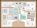 PNG PACK12 Picture frame 20 png by xichan0794