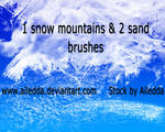 One snow and two sand brushes